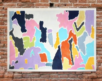 Lilypad Lagoon/ Acrylic on Paper / 100x140 cm /2020