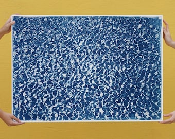 Colossal Cyanotype: Infinity Pool/ 100x70cm / Limited Edition /