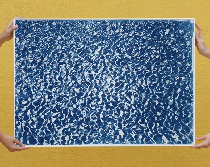 Featured listing image: Colossal Cyanotype: Infinity Pool/ 100x70cm / Limited Edition /