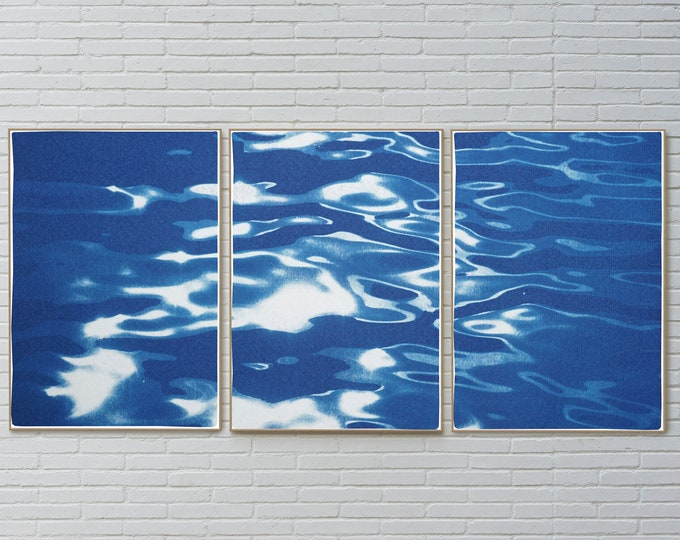Reflections off Lido Island / Cyanotype On Watercolor Paper / Limited Edition / 2021