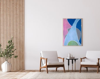 Fork in the River / Acrylic Painting on Paper / 100x70 cm / 2021