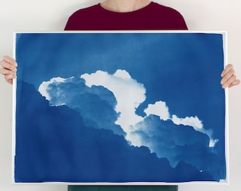 Yves Klein Clouds / 50x70cm / Cyanotype on Watercolor Paper / Limited Edition