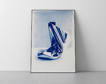 "Exclusive Edition Cyanotype Jose Miguel Marques, ""Clear Plastic #1"" / 50x70cm / Edition size: 20"