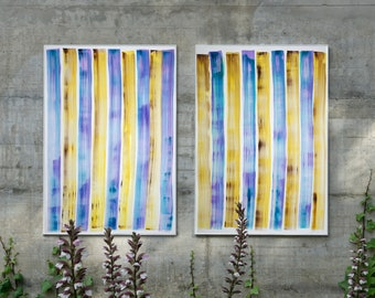Refreshing Gelato Grid / Acrylic Painting on Paper / 2021