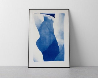 Layers of an Iceberg/ Handmade Cyanotype Print on Watercolor Paper / 50x70 cm / Limited Edition