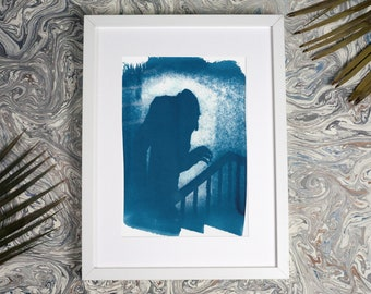 Nosferatu Shadow / Cyanotype Print on Watercolor Paper / Limtied Edition / A4