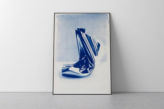 "Exclusive Edition Cyanotype Print by Jose Miguel Marques, ""Clear Plastic #1"" / 50x70cm / Edition size: 20"