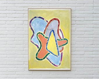 Pastel Abstract Heart / Acrylic Painting on Watercolor Paper / 2021