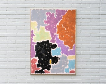Purple Bougainvilleas / Acrylic on Paper / 100x70 cm / 2020