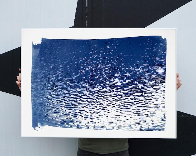 Cyanotype Print: Lake Tahoe Panorama / 100x70cm / Limited Edition /