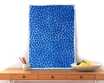 Eclectic Animal Print / Limited Edition Cyanotype Print on Watercolor Paper / 50x70cm