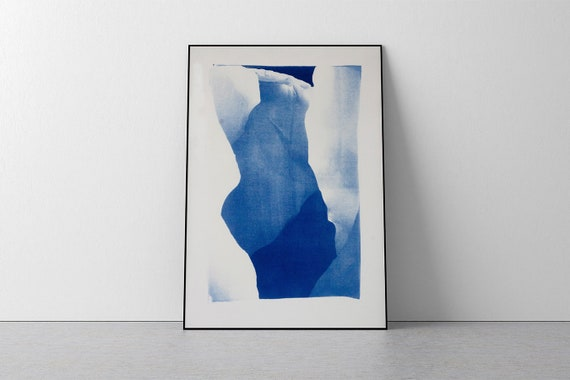 Layers of an Icebergn / Handmade Cyanotype / 50x70 cm / Limited Edition