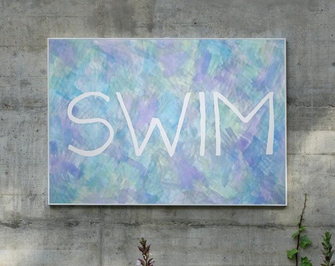 Swim / Acrylic Painting on Paper / 2021