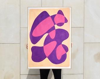 Translucent Purple Bubbles / Acrylic Painting on Paper / 2021