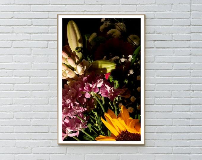 Colorful Flower Bouquet Mix I /  Limited Edition Giclée Print