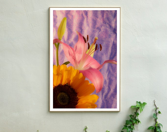 Nineties Sunflowers with Lily / Limited Edition Giclée Print
