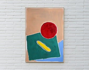 Still Life in Primary Color / Acrylic Painting on Watercolor Paper / 2021