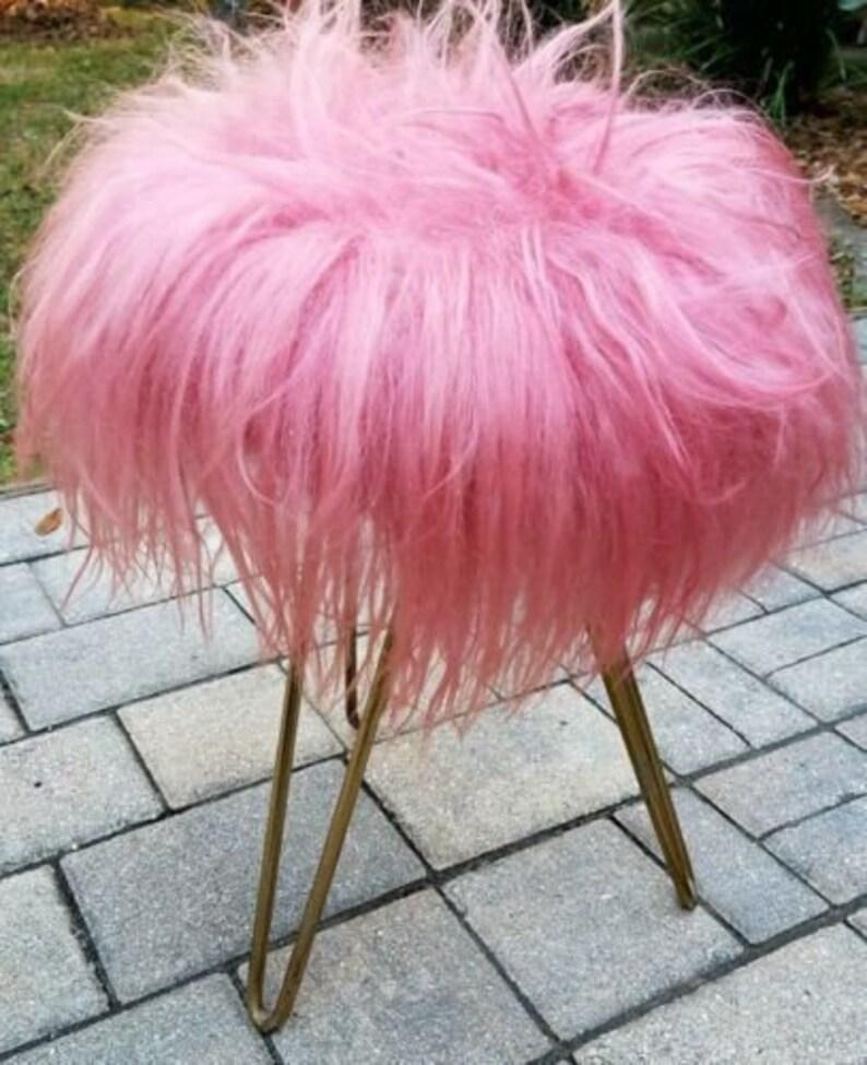 MOD 1950/'s Vanity Pink hairpin leg Stool French Jacques Tati Mon Oncle