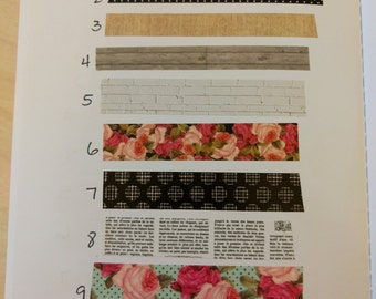 Paper Studio Floral Washi sample 24 inches - choose your style