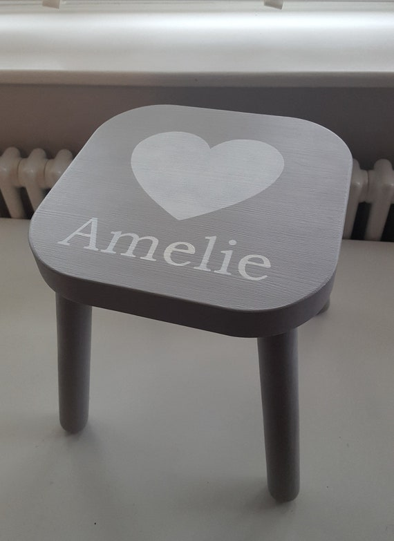 Admirable Personalised Childrens Wooden Stool Short Links Chair Design For Home Short Linksinfo