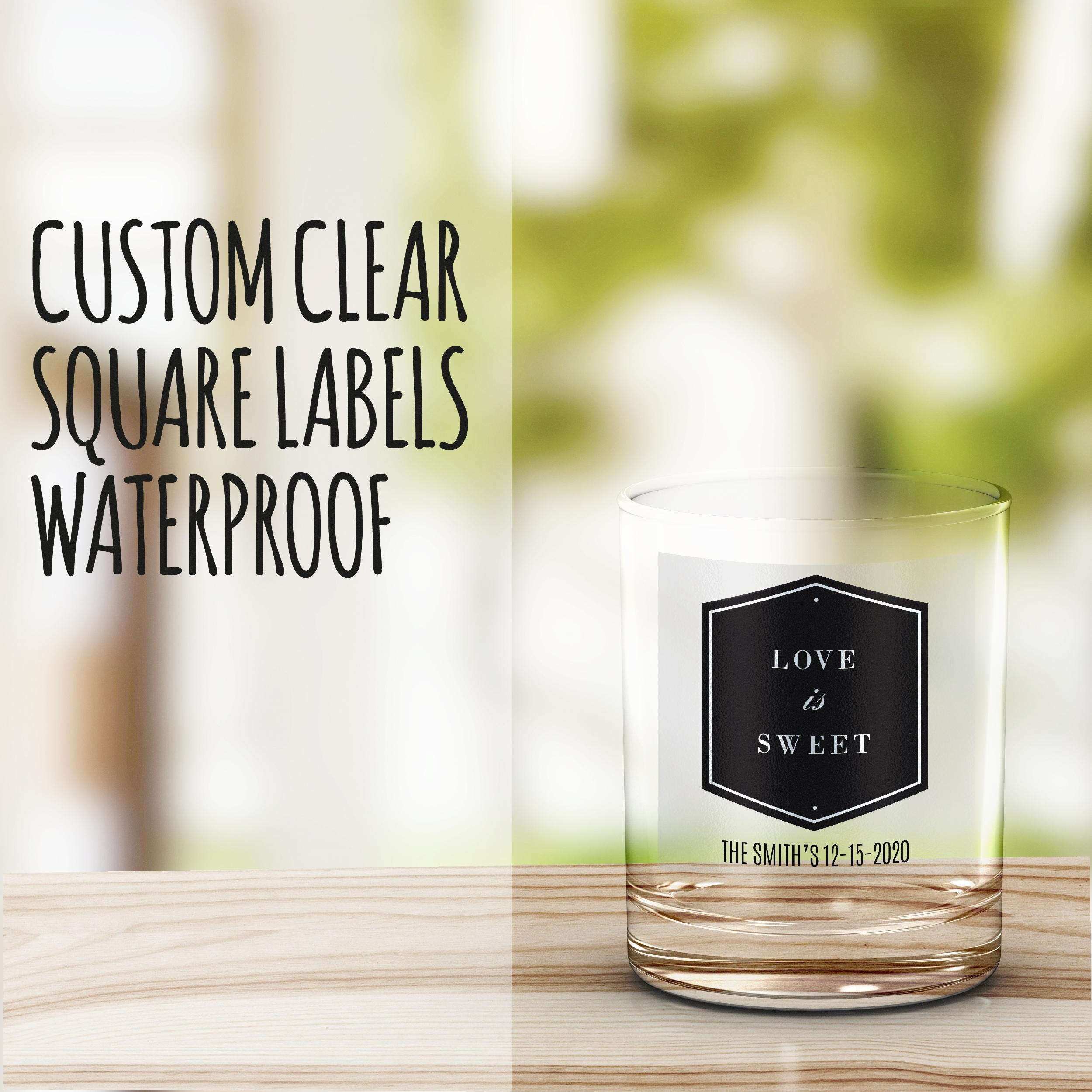 Personalized Shot Glasses For Clear Labels