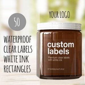 custom printed vinyl labels 25 Die Cut Stickers with your logo Waterproof smudge proof