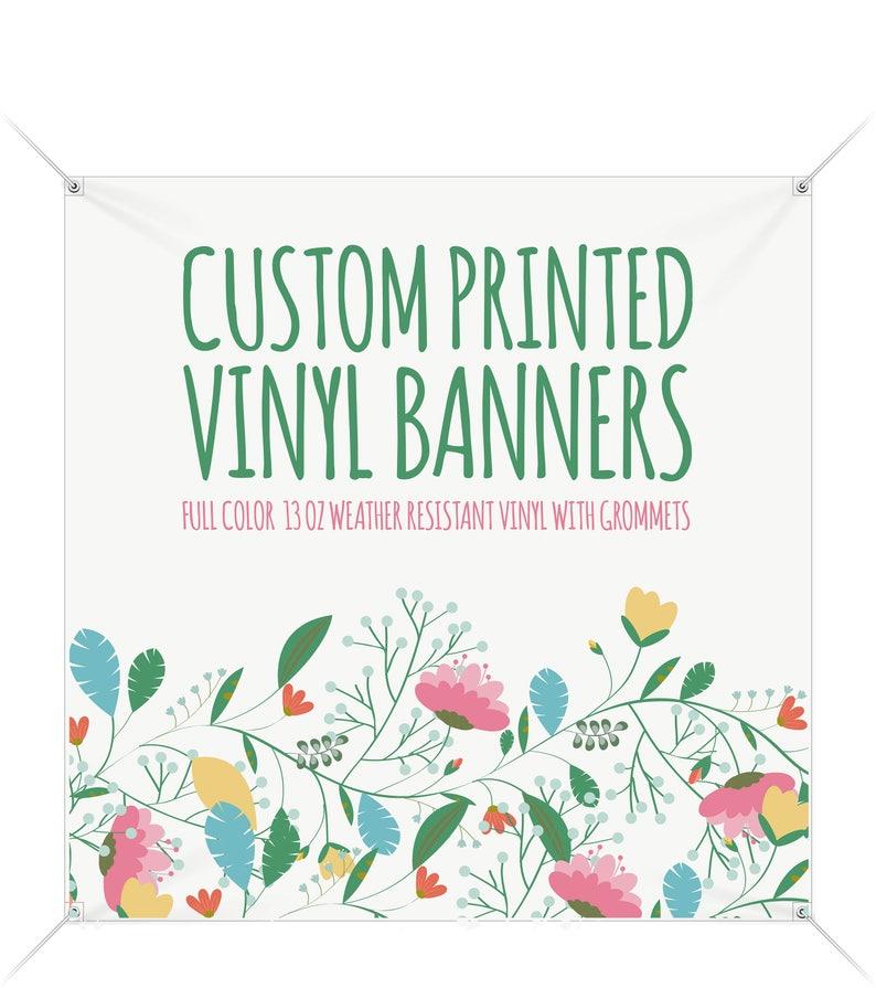Custom Sign Vinyl Sign Custom Vinyl Banner Vinyl Banner Full Color Banner Custom Printed Banner Custom Square Banner Vinyl