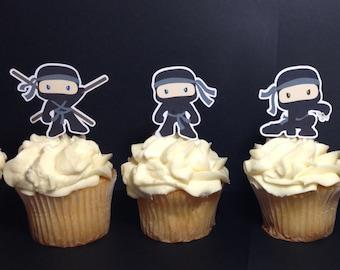 Ninja Edible Cake Toppers Ninja Edible Cake Image Ninja Etsy