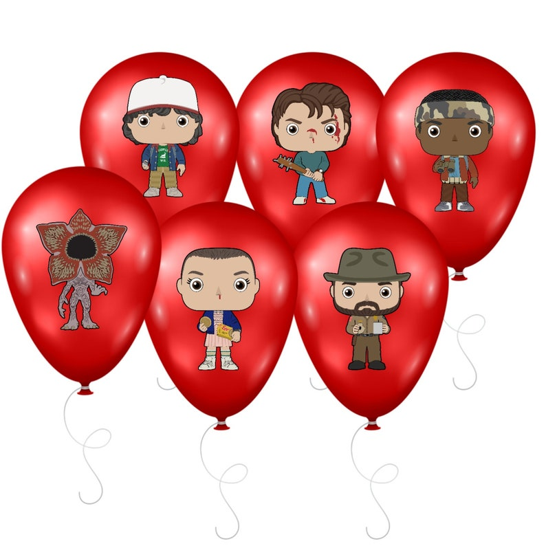 Stranger Things Inspired Balloon Stickers, Stranger Things Birthday  Decorations, Stranger Things Theme