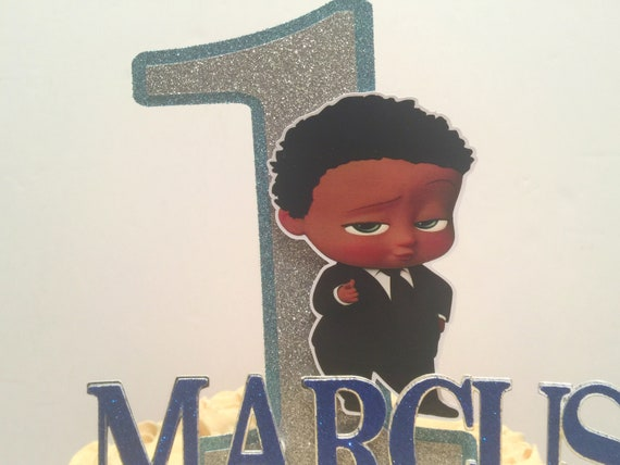 African American Boss Baby Cake Topper African American Boss Baby Party Decorations Boss Baby Party Supplies