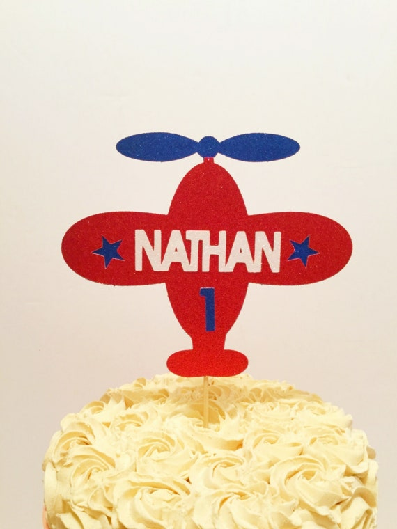 Remarkable Airplane Cake Topper Airplane Birthday Theme Airplane Etsy Funny Birthday Cards Online Barepcheapnameinfo