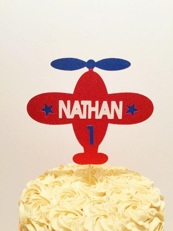 Prime Airplane Cake Topper Airplane Birthday Theme Airplane Etsy Funny Birthday Cards Online Alyptdamsfinfo