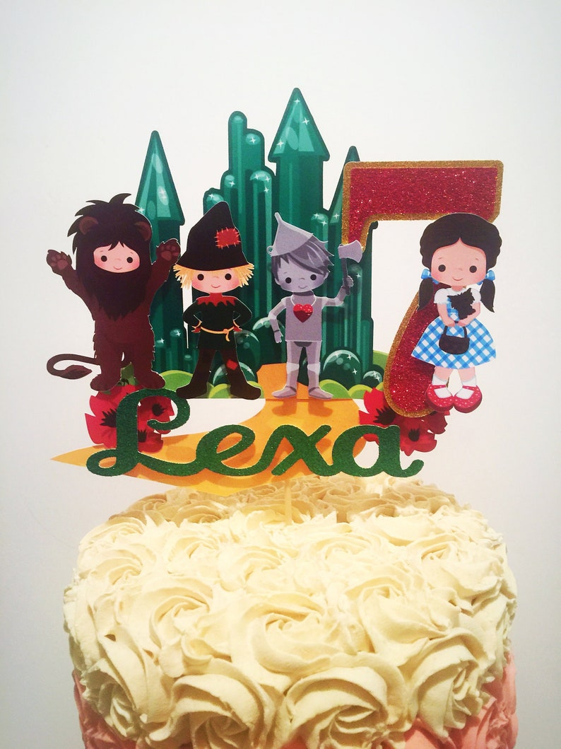 Wizard Of Oz Cake Topper Wizard Of Oz Party Supplies Wizard Etsy