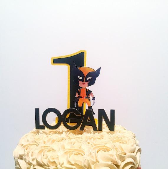 Incredible Wolverine Inspired Cake Topper Superhero Party Supplies Etsy Personalised Birthday Cards Veneteletsinfo