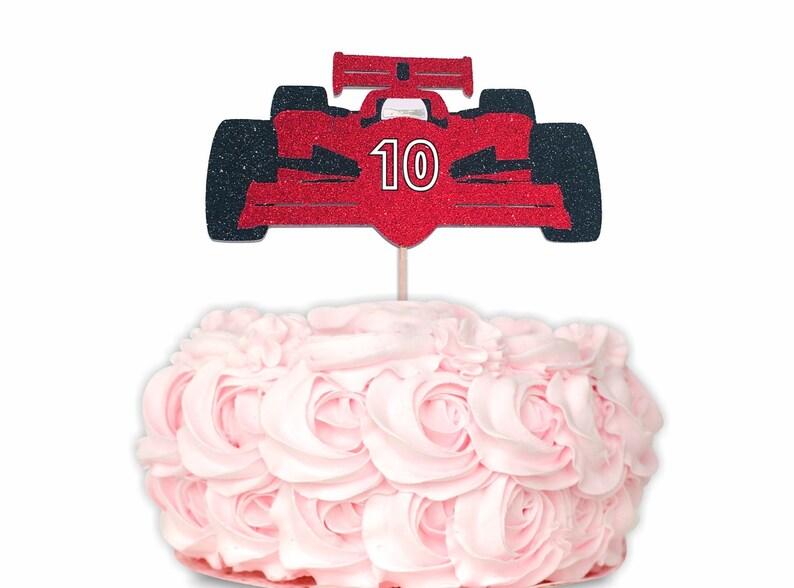 Race Car Cake Topper Race Car Party Decorations Racecar Etsy