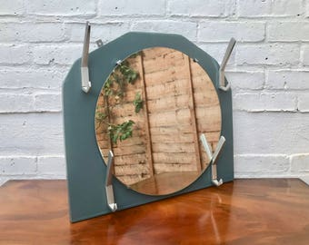 Hallway Round Mirror With Coat Hooks #446
