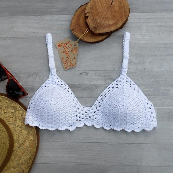 397594b75bfcf Crochet Bra bralette White Crochet Swimsuit White Crochet Crop