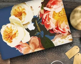 Floral Print Macbook Decal / Peonies Macbook Air Sticker / Stickers Macbook Pro / Macbook pro 13 skin / Macbook air skin/ laptop decal/EL007