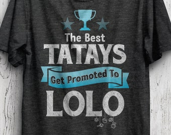 8d42a5133 Filipino Gift For Grandpa, Promoted to Lolo, Funny Filipino Grandfather  T-Shirt, Philippines Heritage, Tagalog Gift, , Lolo Baby Shower Gift