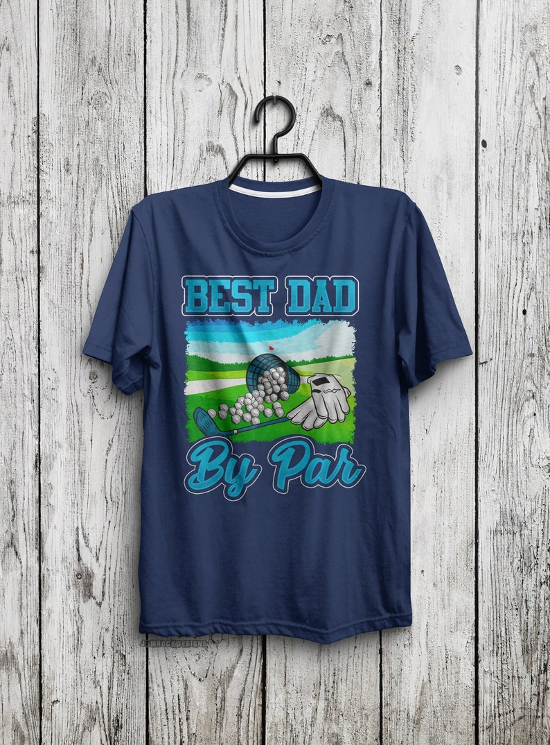 8b666a17 Funny Golf Gifts for Men Best Dad By Par Golf Daddy T-Shirt | Etsy