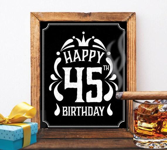 Happy 45th Birthday Decoration 45 Th Card
