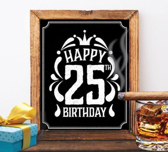 25 Geburtstag Dekoration 25 Geburtstag 25 Geburtstag Karte Etsy
