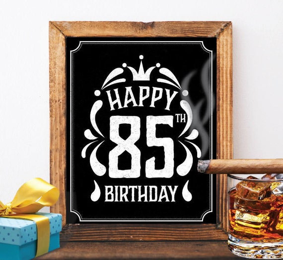 Happy 85th Birthday Decoration 85 Th Birthday 85 Birthday Card Etsy