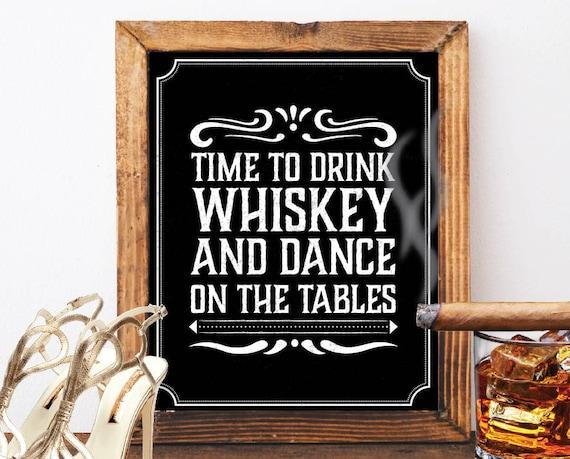 Whiskey Schild Tafel Zeichen Bar Hochzeitsdekoration Jack