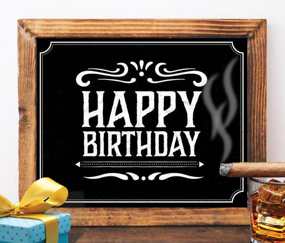 Happy Birthday Sign Printable Happy Birthday Sign Jack Daniels Etsy