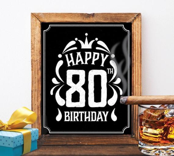 Happy 80th Birthday Decoration 80 Th Card