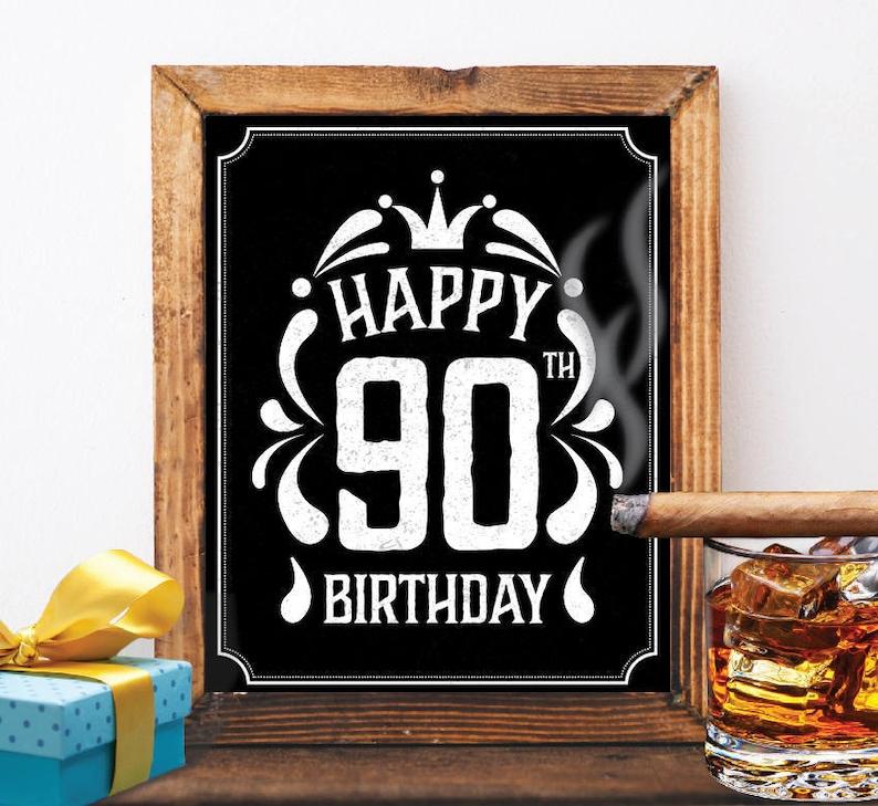 Happy 90th Birthday Decoration 90 Th Card