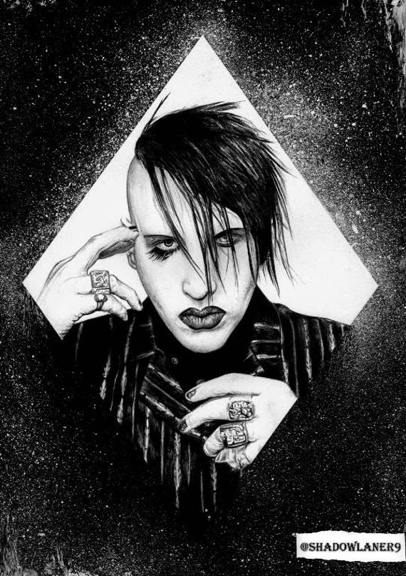 Marilyn Manson Deformation Age A4a3 Size Art Etsy