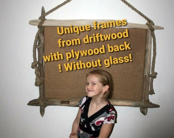 CUSTOM SIZING, Amazing Frames with diftwood, Each frame is unique and made similar to the sample in the required size, Hanging frames , Gift