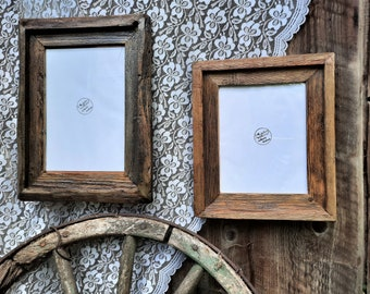 CUSTOM SIZING Country style, Reclaimed Wood Frame,Original Rustic shadow Frames,Wall Hanging frames, Picture Frame for order, Raw wood Frame
